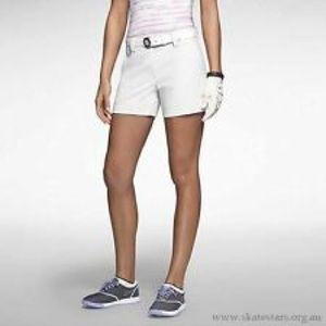 NWT NIKE modern rise golf shorts SZ 14 white women